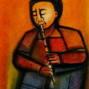Flutist (new painting)